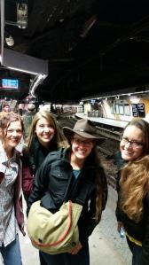 Hangin' in the Paris Metro.